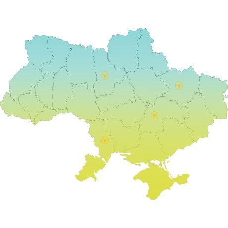 Карта представительтсв компании Alu-System