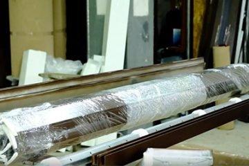Сборка короба и вала для роллетных конструкций из профиля 77 мм, ручное управление
