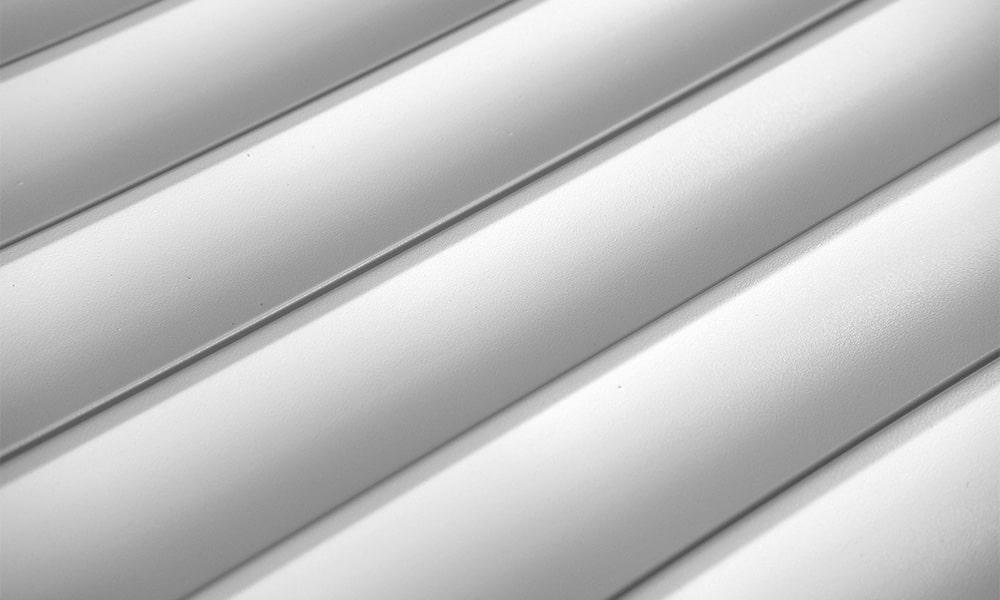 білий профілю для ролетних воріт 55 мм фото