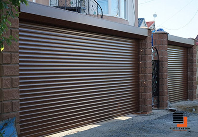 рулонні ворота в місті Черкаси з пінозаповненого профілю фото