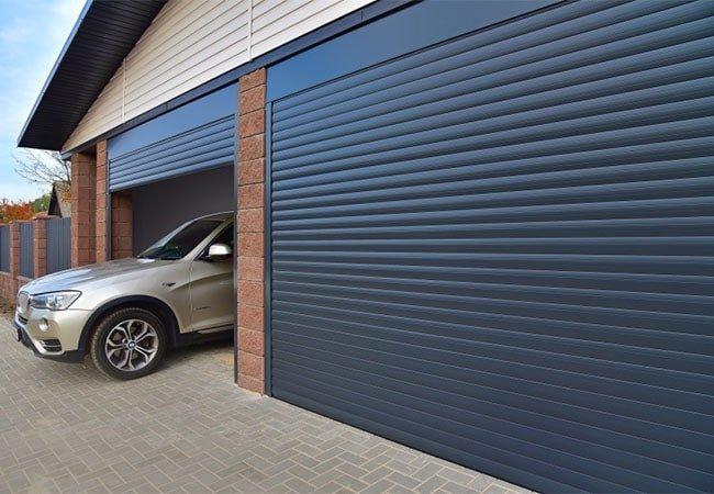 Ролети для гаража кольору антрацит фото