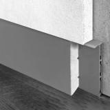 Плинтус скрытого монтажа 55 мм с МДФ вставкой