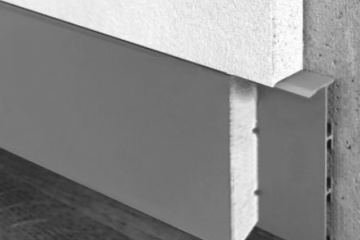 Плинтус скрытого монтажа с мдф вставкой фото