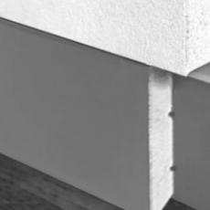 Плінтус прихованого монтажу 60 мм з МДФ вставкою