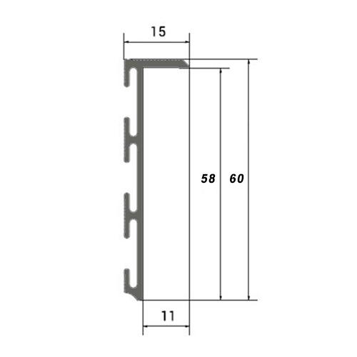 Схема плінтусу 60 мм