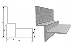 Схема профиля дял теневого шва фото