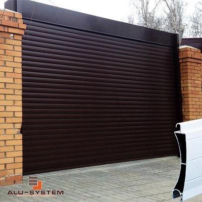 Ролети на гараж в Київі з экструдированого профіля
