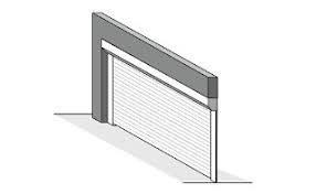 Встроенный монтаж готовых ворот фото чертеж